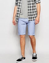 Threadbare Cotton Chino Shorts - Blue