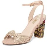 Dorothy Perkins Womens Blush 'Skylar' Brocade Sandals- Pink
