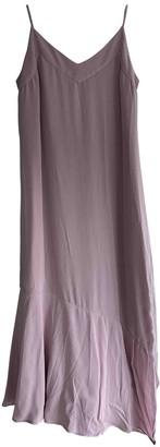 Equipment Purple Silk Dress for Women