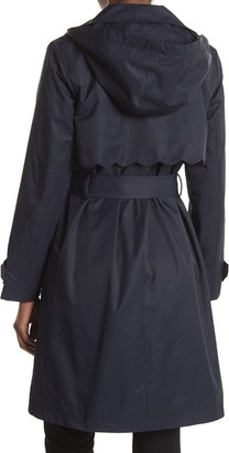Kate Spade Scalloped Belted Hood Trench Coat