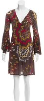 M Missoni Long Sleeve Print Dress