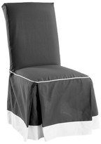 Nobrand No Brand Cotton Duck Two Tone Dining Room Chair Slipcover