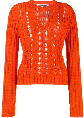 Courreges Crocheted Crewneck Jumper