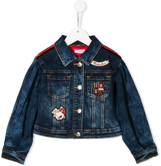 MonnaLisa Brand Patch Denim Jacket
