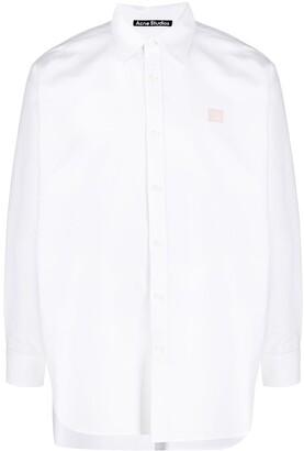 Acne Studios Logo-Patch Oversized Shirt