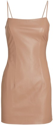 ZEYNEP ARCAY Leather Strappy Mini Dress