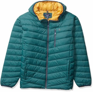 Izod Men's Big & Tall Quilted Hooded Puffer