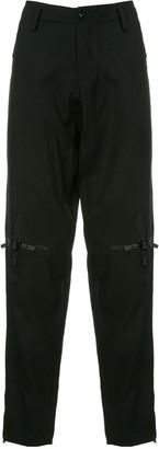 Yohji Yamamoto knee cross-zip slim trousers