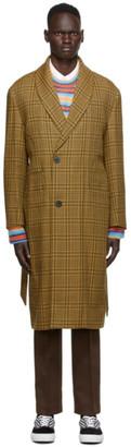 Wooyoungmi Yellow Plaid Long Coat