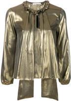 Golden Goose Deluxe Brand metallic shift blouse