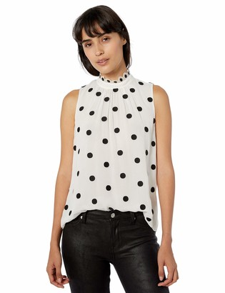 Rebecca Taylor Women's Sleeveless Dot Embroidered Top