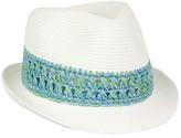 Jendi Blue Crochet Band Fedora