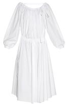 Rochas Open-back stretch-cotton midi dress
