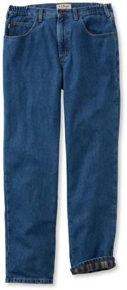 L.L. Bean L.L.Bean Men's Double LA Jeans, Flannel-Lined Natural Fit Comfort Waist