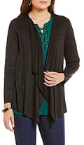 Intro Long Sleeve Faux-Suede Draped Jacket