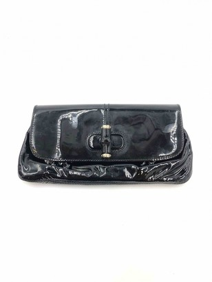 Gucci Bamboo Black Patent leather Clutch bags