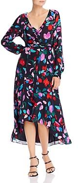 Parker Cora Printed High/Low Midi Dress