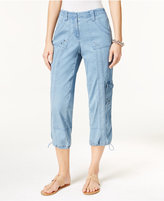 Style&Co. Style & Co Denim Cargo Pants, Only at Macy's