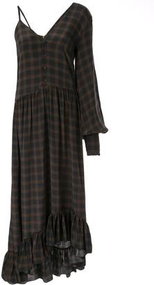 Rokh asymmetric ruffled silk dress