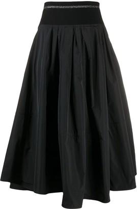 Brunello Cucinelli High-Waist Pleated Skirt