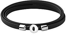 Miansai Men's Nexus Sterling Silver & Leather Wrap Bracelet