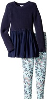 Splendid Littles Sweater Top and All Over Print Leggings (Little Kids)