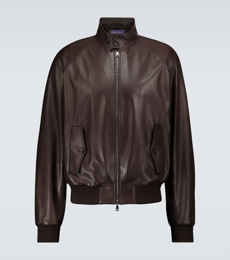 Ralph Lauren Purple Label Torrence Barracuda leather jacket