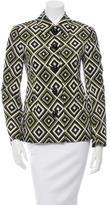 Prada Wool & Silk-Blend Printed Jacket