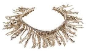 Givenchy Goldtone & Crystal Fringe Cuff Bracelet