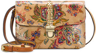 Patricia Nash French Tapestry Bianco Leather Crossbody