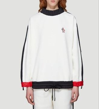 MONCLER GRENOBLE Rouched Trim Colour Block Sweater