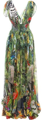 Dolce & Gabbana Plunging Draped Gown