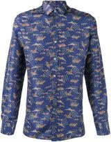 Lanvin Evolutive Cranes slim shirt - men - Silk - 40