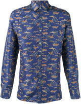 Lanvin Evolutive Cranes slim shirt - men - Silk - 41