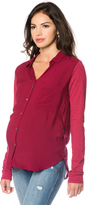 A Pea in the Pod Button Detail Maternity Blouse