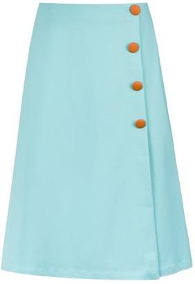 Adriana Degreas Button-Up Midi Skirt
