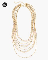 Chico's Pink Ginger Multi-Strand Necklace