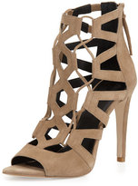 Rebecca Minkoff Roxie Caged Suede Sandal, Taupe