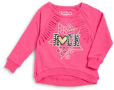 Flapdoodles Girls 2-6x Fringed Rock Star Graphic Long-Sleeve T-Shirt