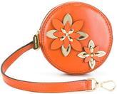MICHAEL Michael Kors flower detail coin purse - women - Leather/Viscose/metal - One Size