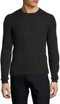 Prada Men's Cashmere Solid Ribbed Crewneck Sweater