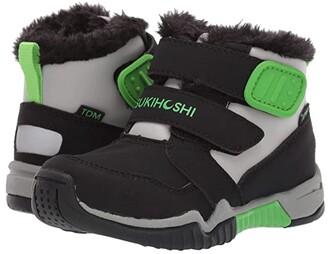 Tsukihoshi Igloo (Toddler/Little Kid) (Black/Gray) Boy's Shoes