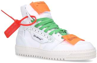 Off-White Off White Leather Off Court 3.0 Sneakers