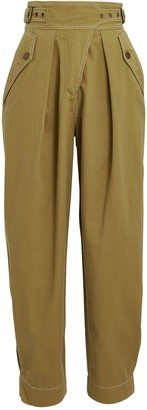 Ulla Johnson Dune Cropped Cotton Twill Trousers