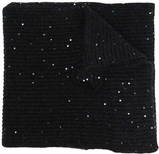 Moncler Sequin Knitted Scarf