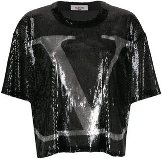 Valentino sequin-detail VLOGO T-shirt