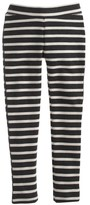 J.Crew Girls' cozy everyday leggings in charcoal stripe
