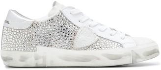 Philippe Model Paris low top diamante embellished sneakers