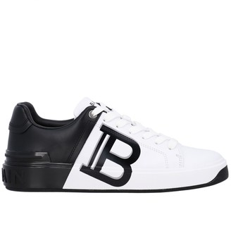 Balmain Sneakers Sneakers In Bicolor Leather With Logo