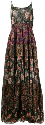 Mes Demoiselles Floral Print Tiered Dress